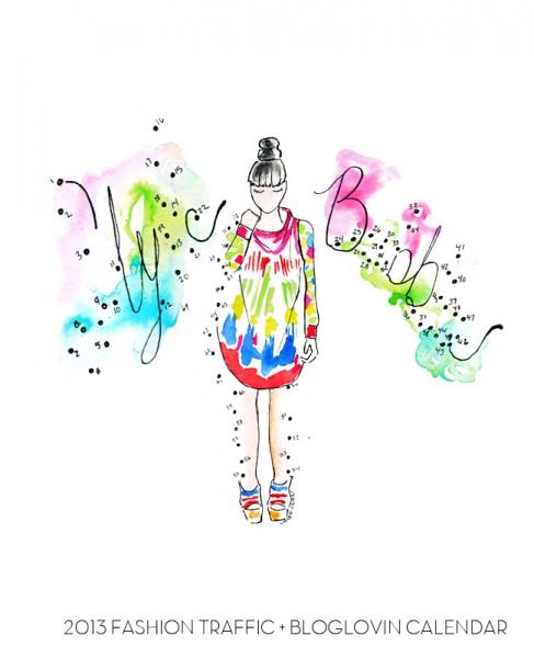 bloglovin 2012 calendar, susie bubble